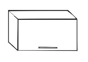 Horní kuchyňská skříňka nad digestoř - Tempo Kondela - Irys New - GO-60