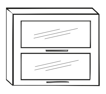 Horní kuchyňská skříňka - Tempo Kondela - Irys New - G2W-80