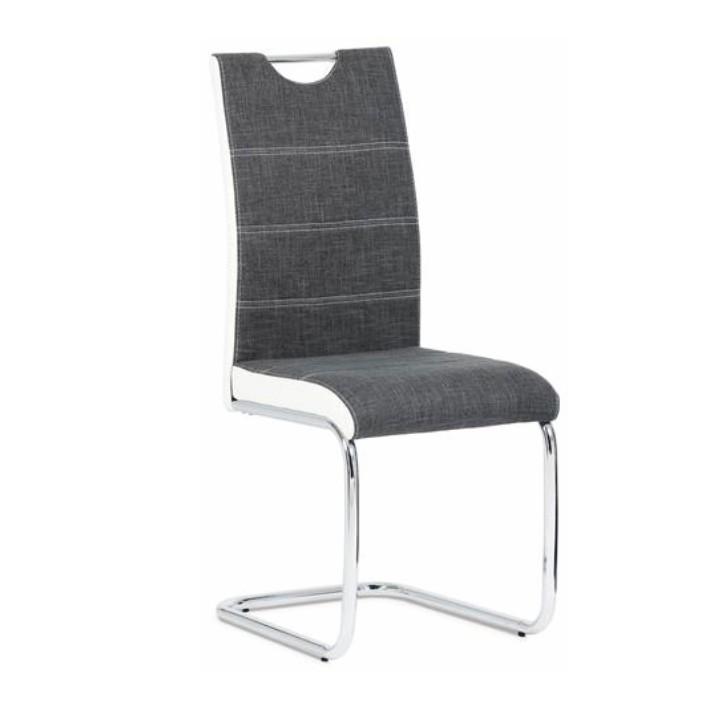 Jídelní židle - Tempo Kondela - Izma (tmavě šedá + bílá)