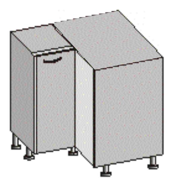 Spodní kuchyňská skříňka, rohová - Tempo Kondela - Jura New - DN-88*88