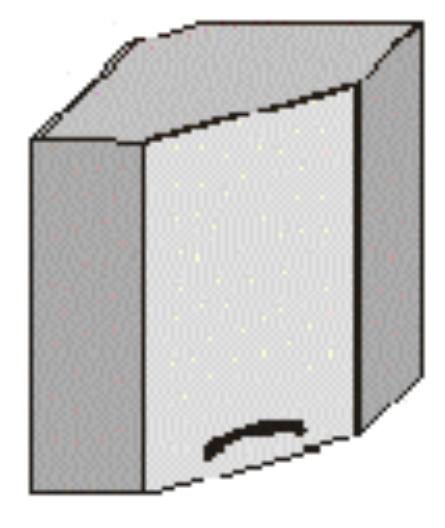 Horní kuchyňská skříňka, rohová - Tempo Kondela - Jura New - GN-58*58