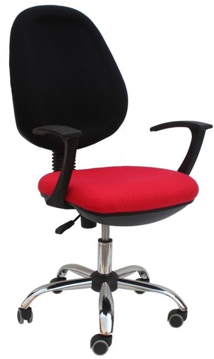 Kancelářská židle - Tempo Kondela - Boban 802 červená + černá (s područkami)