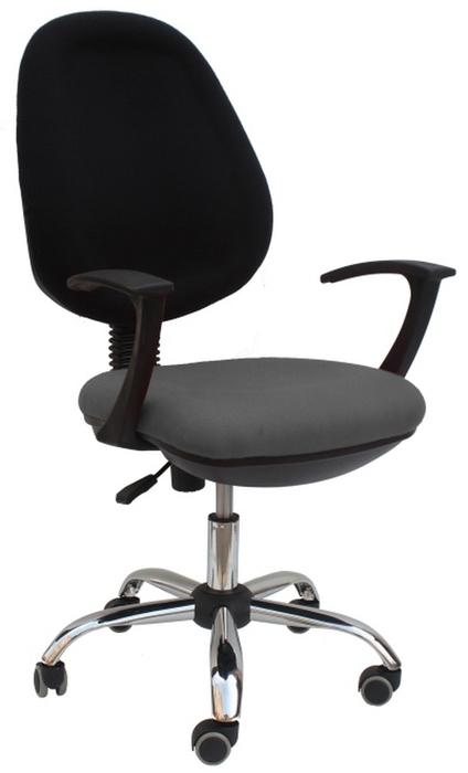 Kancelářská židle - Tempo Kondela - Boban 802 šedá + černá (s područkami)