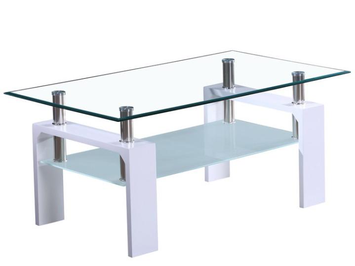 Konferenční stolek - Tempo Kondela - Libor NEW (extra vysoký lesk bílý)
