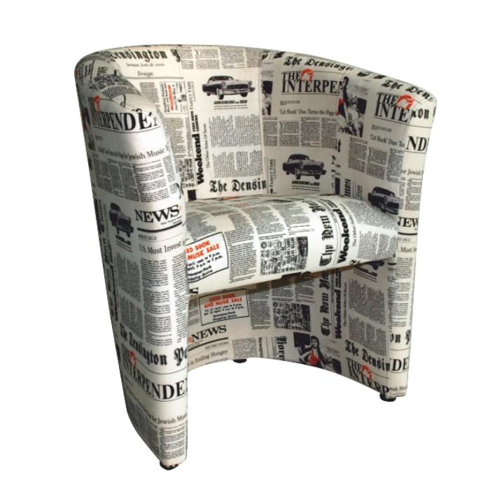 Křeslo - Tempo Kondela - Cuba vzor noviny
