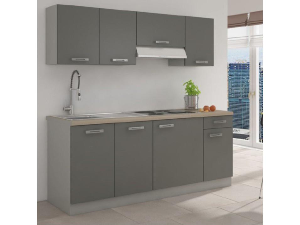 Kuchyně - Tempo Kondela - Lauda 180 cm (šedá + grafit)