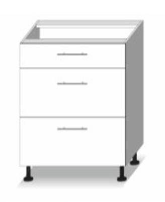Dolní kuchyňská skříňka - Tempo Kondela - Line - D 60 3 zas