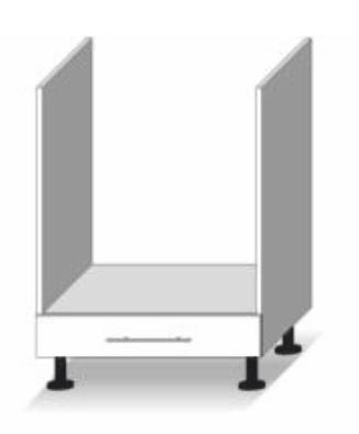 Dolní kuchyňská skříňka na troubu - Tempo Kondela - Line - D 60 ke
