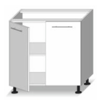 Dolní kuchyňská skříňka - Tempo Kondela - Line - D 80