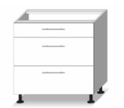 Dolní kuchyňská skříňka - Tempo Kondela - Line - D 80 3 zas