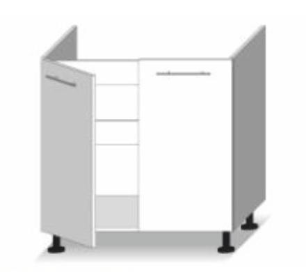 Dolní kuchyňská skříňka pod dřez - Tempo Kondela - Line - D 80 zl