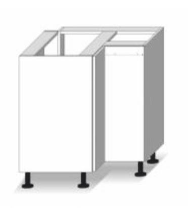 Dolní kuchyňská skříňka, rohová - Tempo Kondela - Line - DR L