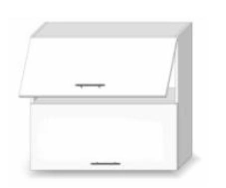 Horní kuchyňská skříňka - Tempo Kondela - Line - G 80 U
