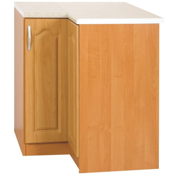 Dolní kuchyňská skříňka, rohová - Tempo Kondela - Lora MDF klasik S90/90/P olše (P)