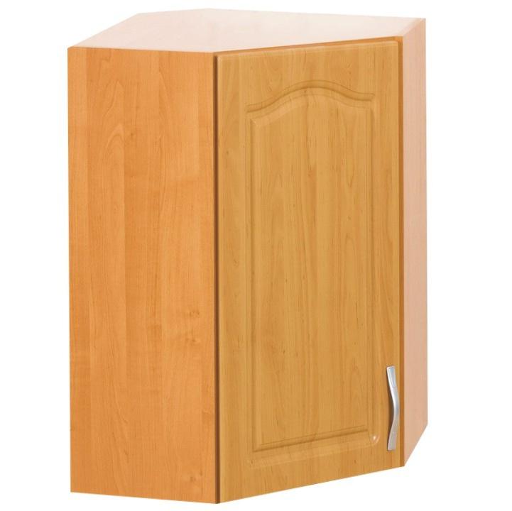 Horní kuchyňská skříňka, rohová - Tempo Kondela - Lora MDF klasik - W60/60/L olše (L)