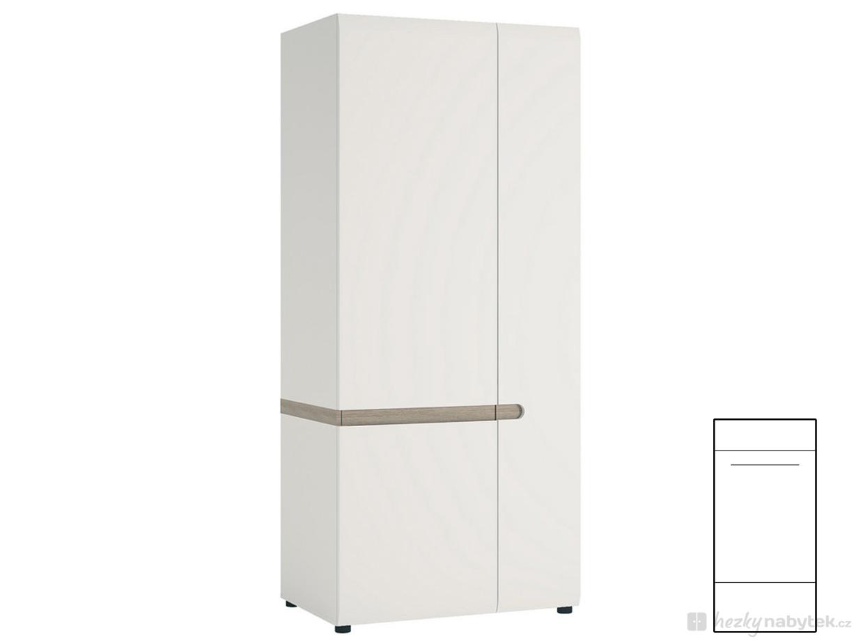 Šatní skříň - Tempo Kondela - Lynatet - Typ 20A - LTS-01/2D