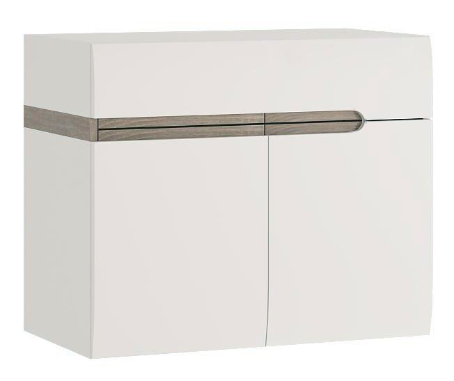Koupelnová skříňka pod umyvadlo - Tempo Kondela - Lynatet - Typ 150 - 2D (s umyvadlem)