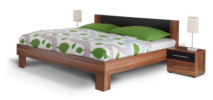 Manželská postel 180 cm + 2 noč. stolky - Tempo Kondela - Martina ořech