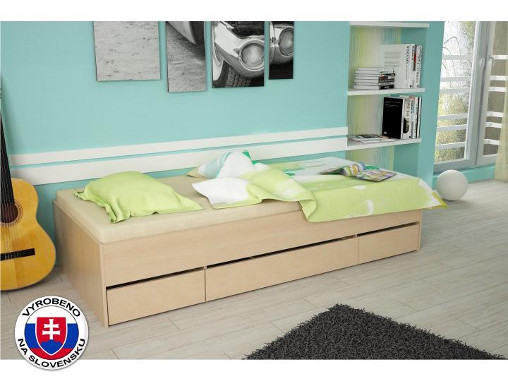 Jednolůžková postel 90 cm - Tempo Kondela - Matiasi (buk)