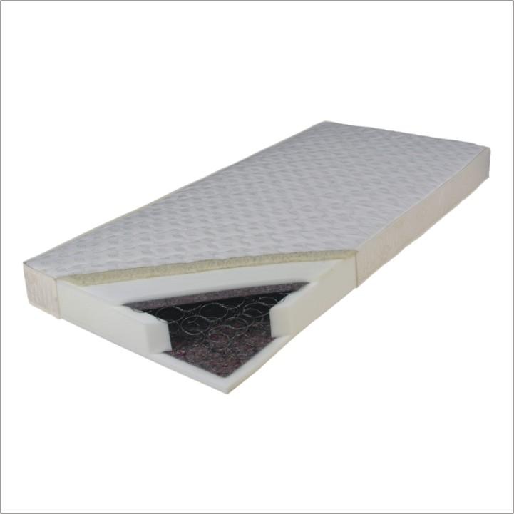 Pružinová matrace - Tempo Kondela - Barbados 200x80 cm. Lehká, kvalitní, pružná a prodyšná matrace s bonellovými pružinami a potahem se zimní a letní stranou. Zimní strana je doplněna o vrstvu ovčí vlny.