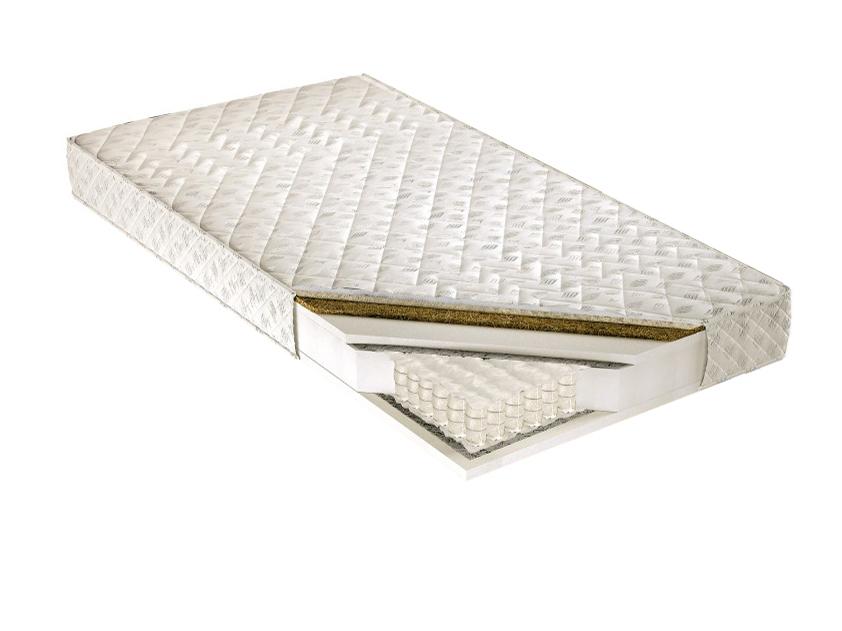 Taštičková matrace - Tempo Kondela - Palmela 200x140 cm. Kvalitní a pružná vysoká matrace s latexovou deskou a letním-zimním potahem, s příměsí ovčího rouna na zimní straně, pro maximální pohodlí.