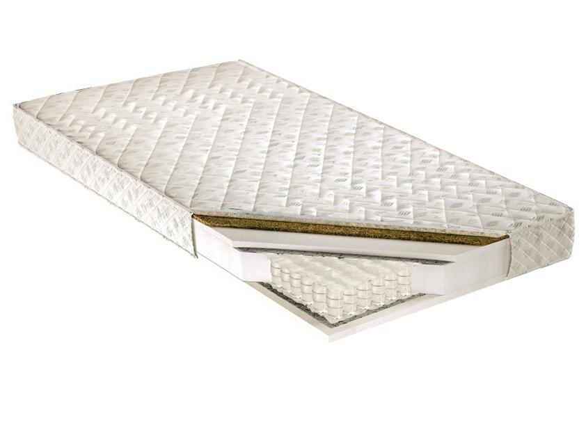 Taštičková matrace - Tempo Kondela - Palmela 200x180 cm. Kvalitní a pružná vysoká matrace s latexovou deskou a letním-zimním potahem, s příměsí ovčího rouna na zimní straně, pro maximální pohodlí.