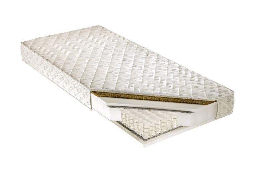 Taštičková matrace - Tempo Kondela - Palmela 200x80 cm. Kvalitní a pružná vysoká matrace s latexovou deskou a letním-zimním potahem, s příměsí ovčího rouna na zimní straně, pro maximální pohodlí.