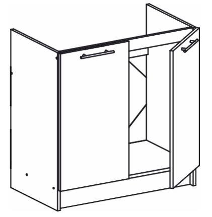 Dolní kuchyňská skříňka pod dřez - Tempo Kondela - Monda - S80ZL
