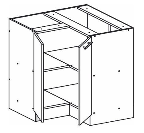 Dolní kuchyňská skříňka, rohová - Tempo Kondela - Monda - S90/90
