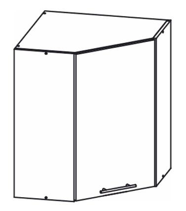 Horní kuchyňská skříňka, rohová - Tempo Kondela - Monda - W60/60