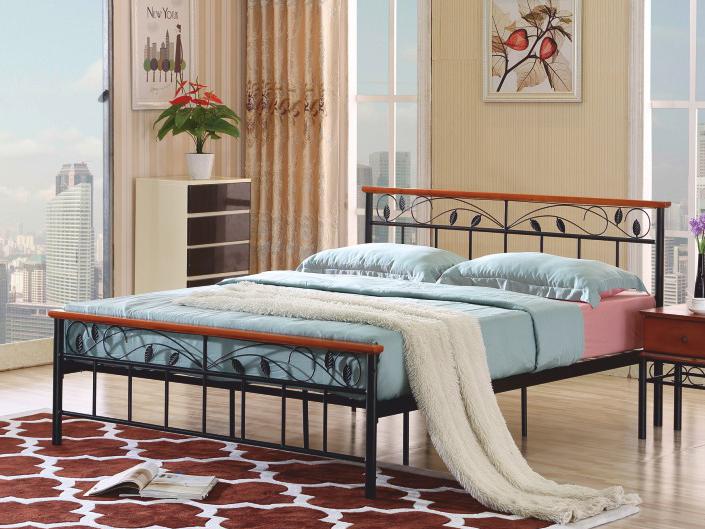 Manželská postel 160 cm - Tempo Kondela - Morena (s roštem)