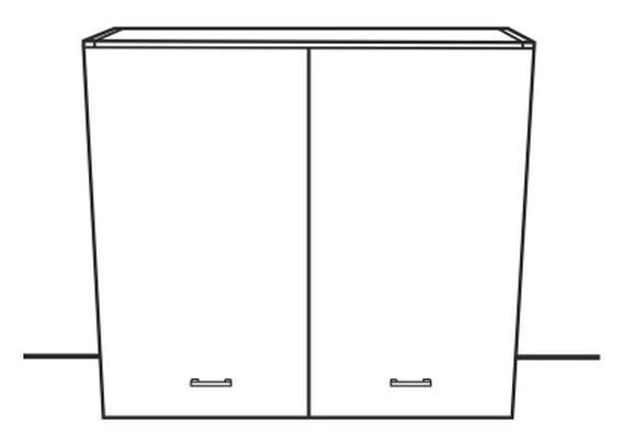 Horní kuchyňská skříňka - Tempo Kondela - Narcis - G-80