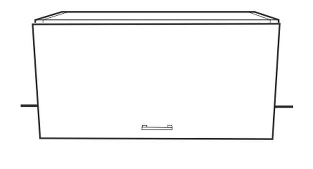 Horní kuchyňská skříňka nad digestoř - Tempo Kondela - Narcis - GO-60