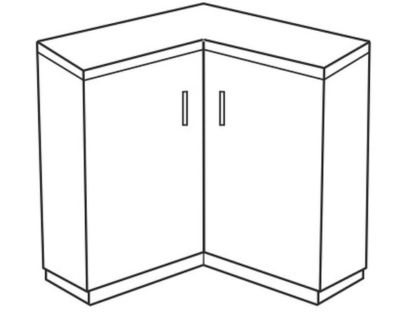 Spodní kuchyňská skříňka, rohová - Tempo Kondela - Narcis - DN-86x86