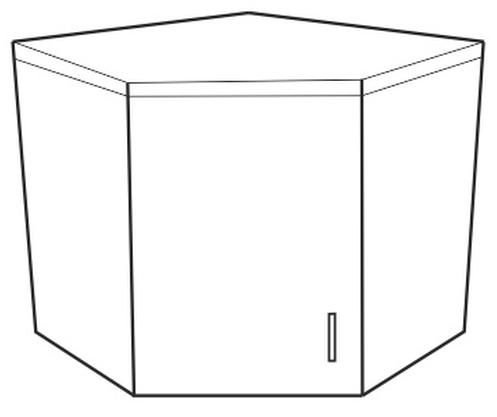 Horní kuchyňská skříňka, rohová - Tempo Kondela - Narcis - GN-56x56