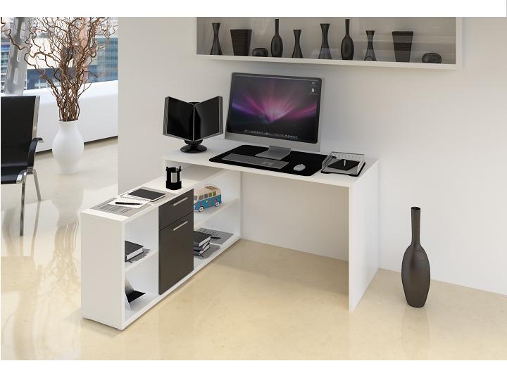 PC stolek - Tempo Kondela - Noe new (bílá + černá)