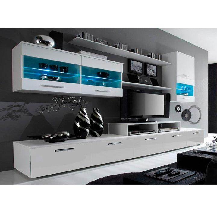 Obývací stěna - Tempo Kondela - Leodan (bílá) (s osvětlením)