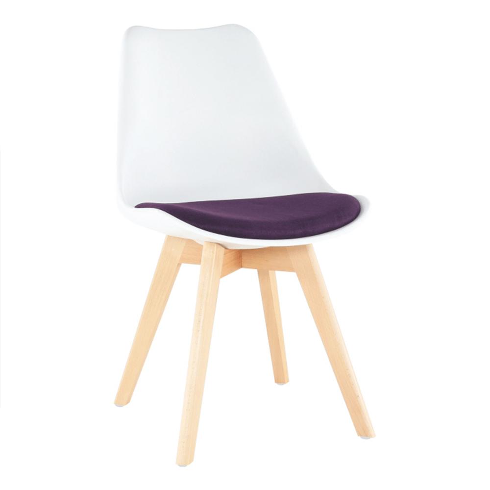 Jídelní židle - Tempo Kondela - Damiara (bílá + fialová)