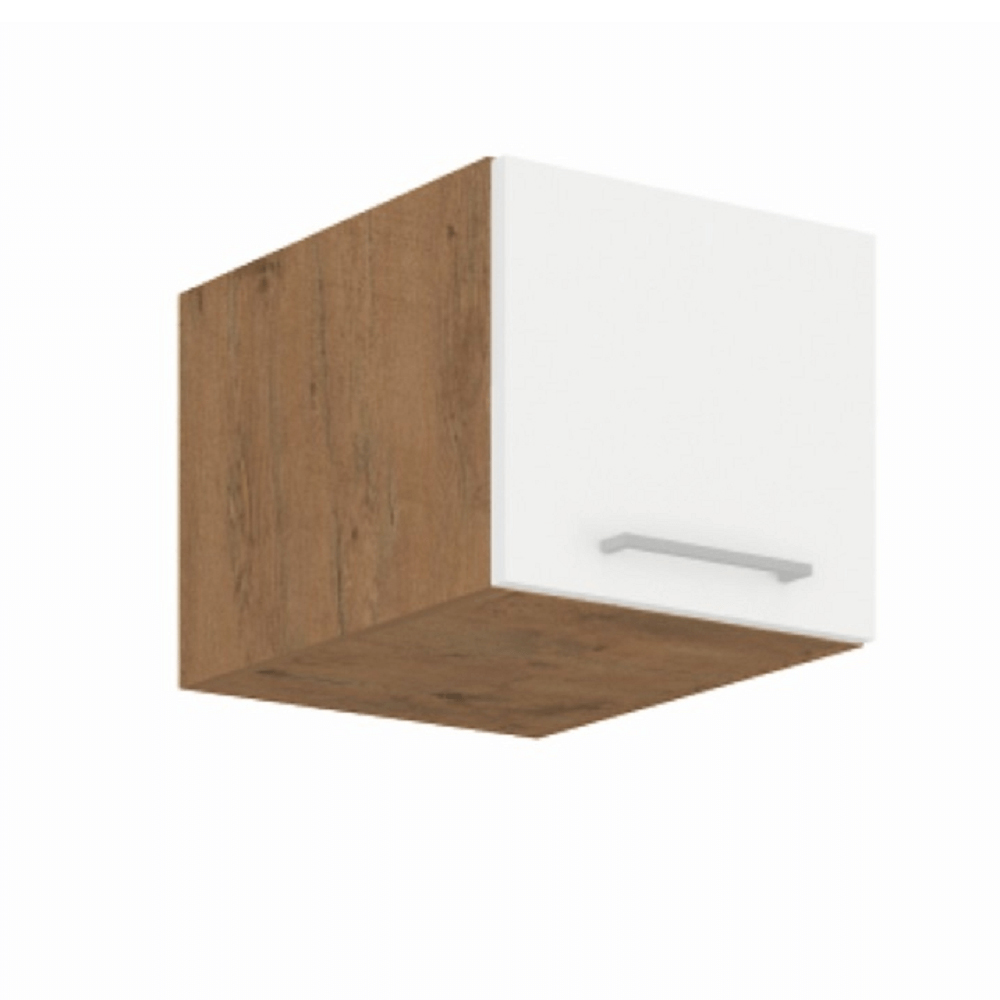 Horní kuchyňská skříňka 40 NAGU-36 1F - Tempo Kondela - Velaga (lesk bílý + dub lancelot)