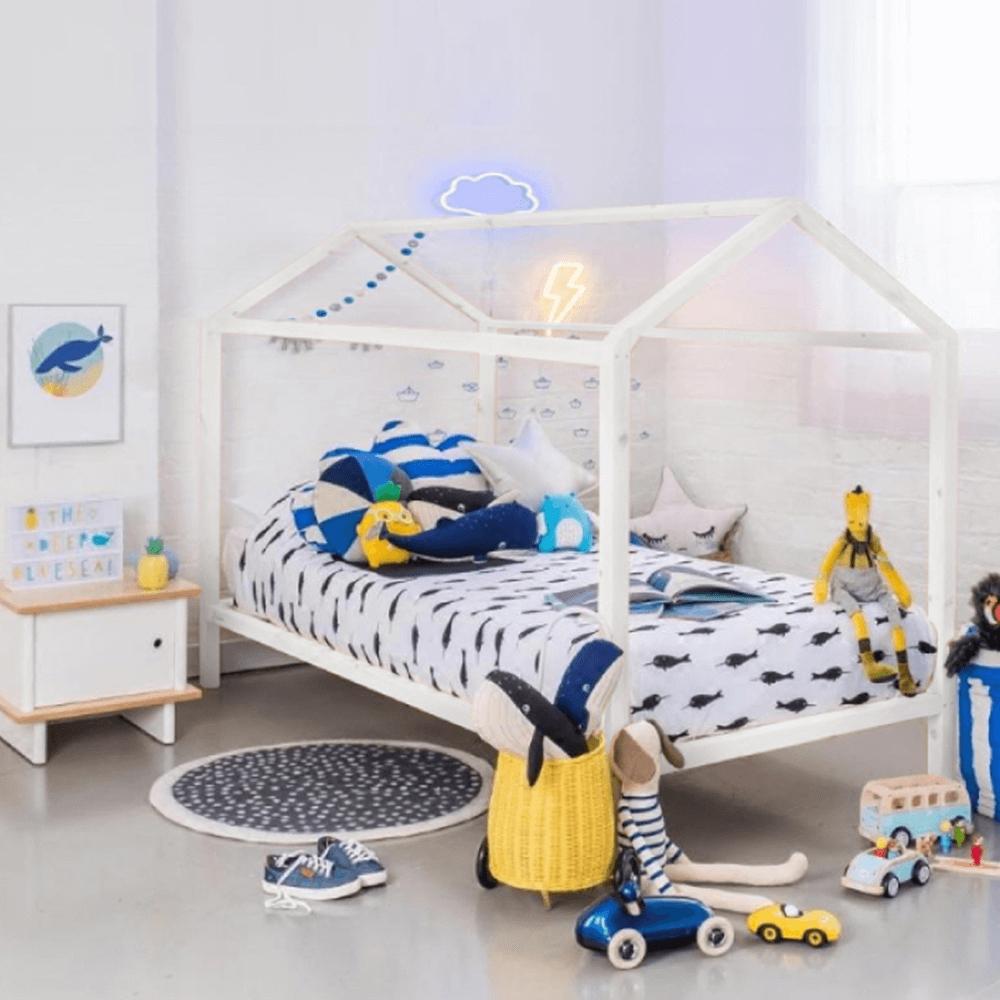 Dětská postel 90 cm - Tempo Kondela - Imperial (bílá)