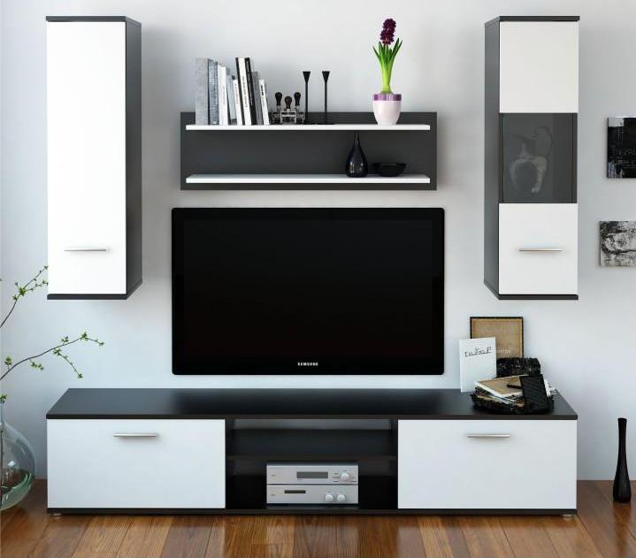 Obývací stěna - Tempo Kondela - Waw (černá + bílá)