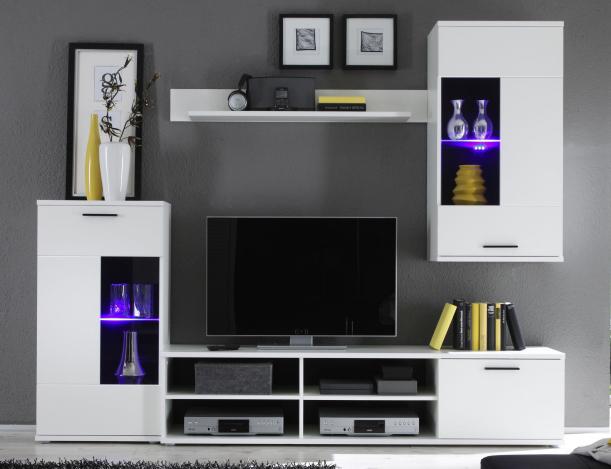 Obývací stěna - Tempo Kondela - Frontal 1 (s osvětlením)