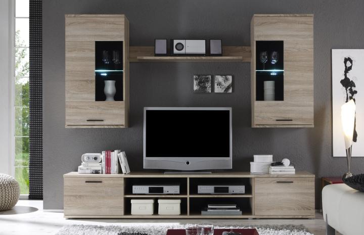 Obývací stěna - Tempo Kondela - Frontal 2 (s osvětlením)