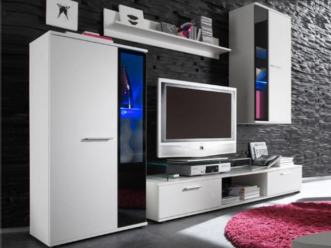 Obývací stěna - Tempo Kondela - Salesa bílá *masážní přístroj ZDARMA
