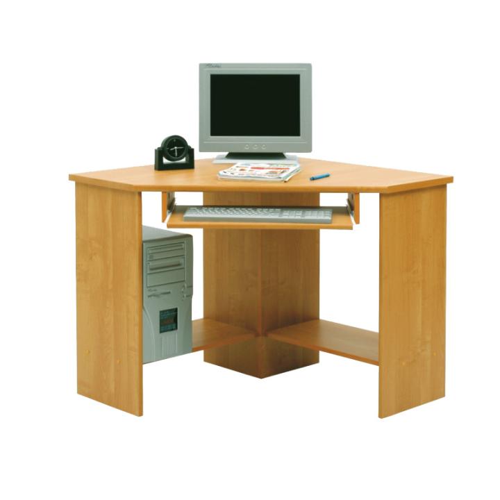 Rohový PC stolek - Tempo Kondela - B3 buk