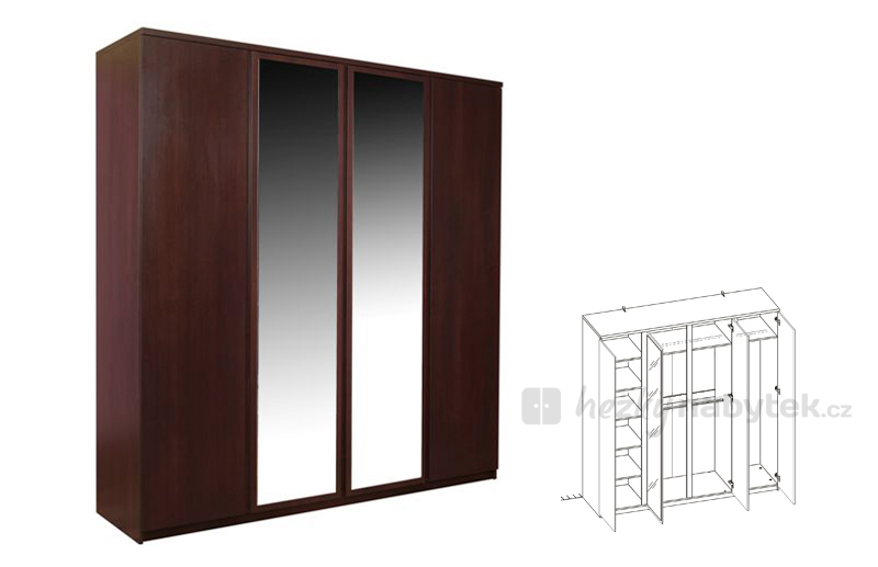 Šatní skříň - Tempo Kondela - Pello - Typ 23 - 4D