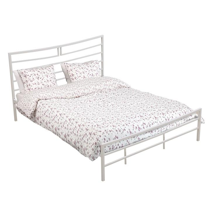 Manželská postel 160 cm - Tempo Kondela - Dalia (s roštem) (bílá)