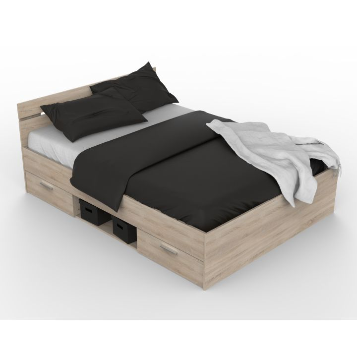 1ad8a576c4792 Manželská postel 160 cm Michigan (dub sonoma) | HezkýNábytek.cz