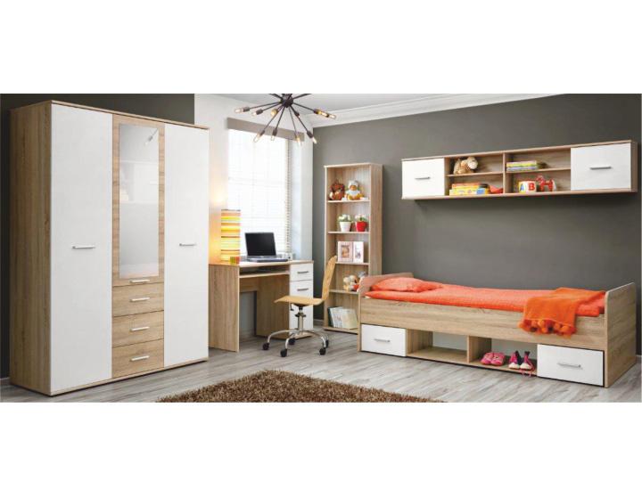 Jednolůžková postel 90 cm - Tempo Kondela - Emio - Typ 04 - Bílá