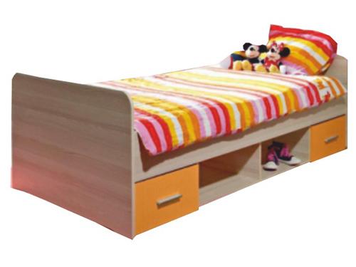 Jednolůžková postel 90 cm - Tempo Kondela - Emio - Typ 04 - Oranžová